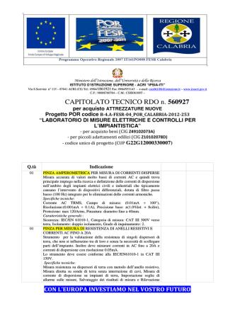 CAPITOLATO TECNICO RDO n. 560927 - IIS IPSIA
