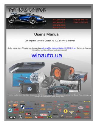 Car amplifier Mosconi Gladen AS 100.2 Silver 2