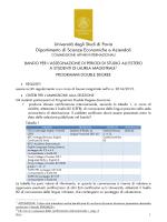 Università degli Studi di Pavia Dipartimento di Scienze