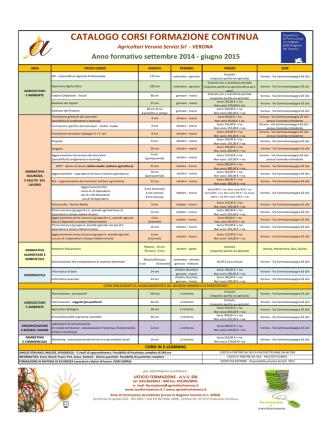 Catalogo corsi formazione continua 2014-2015