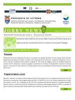 JOBBY NEWS è la newsletter mensile delle Politiche del Lavoro