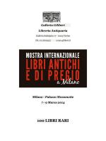 100 LIBRI RARI - Mostra Libri antichi e di pregio a Milano