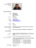 PERSONAL INFORMATION BIANCHI ANDREA