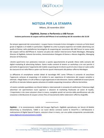 Comunicato Stampa IAB Forum 2014