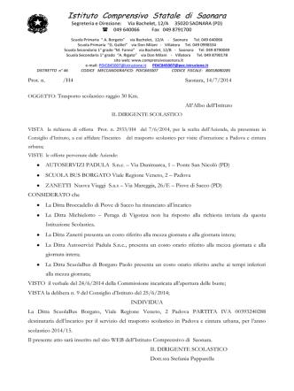aggiudicazioni - Istituto Comprensivo Saonara