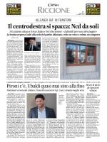 110314 Corriere di Romagna - Onorevole Sergio Pizzolante