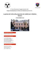 La gestione del rischio nella preparazione dei radiofarmaci