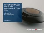 Presentazione - SimonsVoss technologies