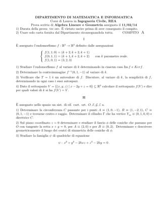 2014 - Dipartimento di Matematica e Informatica