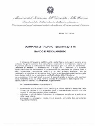 bando pdf - Ufficio Scolastico Regionale per il Veneto