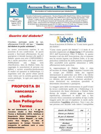 Anno 5 N° 2 - Associazione Diabetici Monza e Brianza