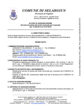 Comune di SELARGIUS (Cod. IPA C_I580)