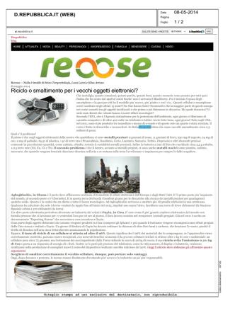 08.05.2014 - d.repubblica.it