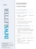 Newsletter n. 20 (III° numero Anno 2014)