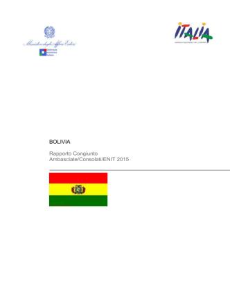 Bolivia - Ministero degli Affari Esteri