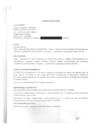 Cv Luca Coppo - Apuafarma Farmacia Carrara