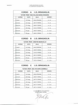 calendario neoassunti iis bragaglia