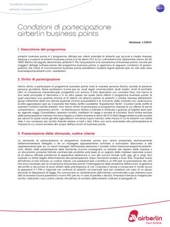 Condizioni di partecipazione airberlin business points
