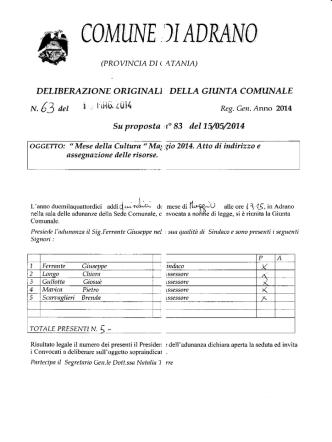 delgm.63 - Comune di Adrano
