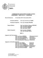 COMMISSIONE GIUDICATRICE ESAMI DI STATO