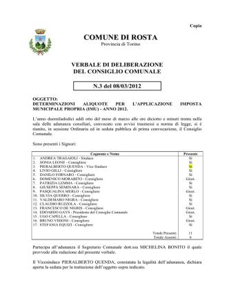 Deliberazione Consiglio Comunale Aliquote-IMU