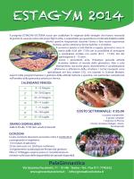 Scarica la Brochure - Società Ginnastica VICTORIA Torino asd