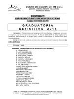 Graduatoria definitiva per pubblicazione