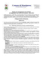 Bando contributo integrazione canoni locazione 2014