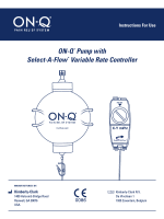 ON-Q* Pump with Select-A-Flow* Variable Rate