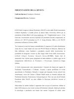 Presentazione della rivista - Psichiatria e Psicoterapia Culturale