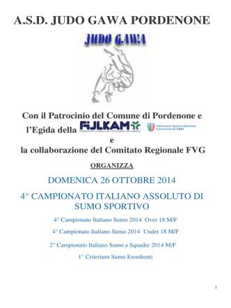 Campionato Italiano Sumo 2014 - PROGRAMMA