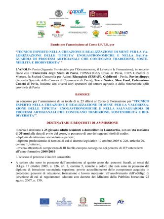 Bando IFTS 2014-2015 - Gazzetta Amministrativa
