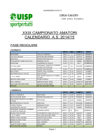 Scarica il Calendario Completo - UISP Zona Flegrea