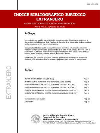 Año 5 - Facultad de Derecho - Universidad de Buenos Aires