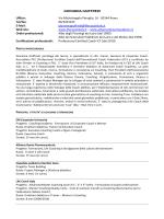Curriculum Dr.ssa Giovanna Giuffredi