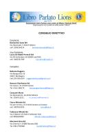 CONSIGLIO DIRETTIVO - Libro Parlato Lions