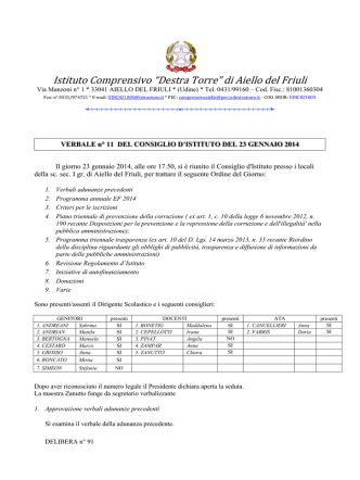 del 23/01/2014 - Istituto Comprensivo