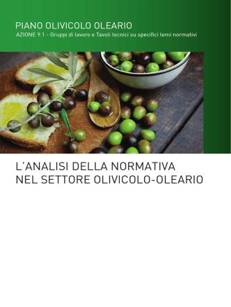Analisi della normativa nel settore olivicolo-oleario