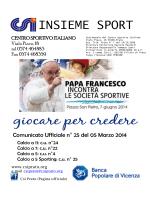 cu 25 - Centro Sportivo Italiano