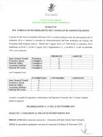 Deliberazione n° 11 del 26 settembre 2014