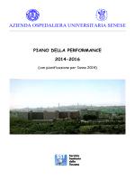 Piano della performance 2014-2016
