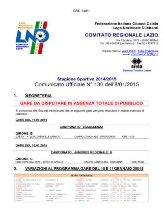 Com. Uff. LND PRI-SEC-JUR-FEMC 08.01.2015