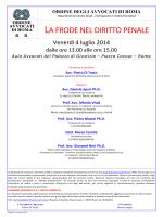 LA FRODE NEL DIRITTO PENALE - Ordine degli Avvocati di ROMA