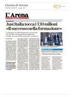 Just Italia tocca i 130 milioni «Il successo nella