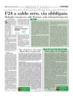 F24 a saldo zero, via obbligata