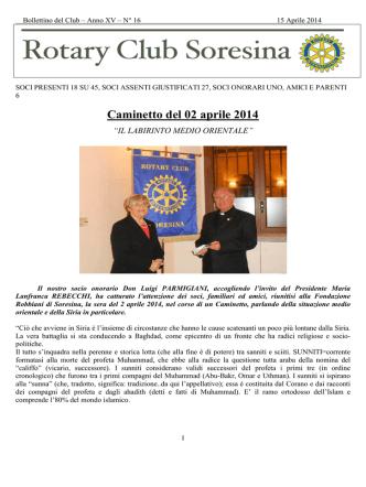 16 15/apr/14 - Rotary Club Soresina