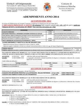 acconto imu, tasi e tari 2014 - Comune di Civitanova Marche