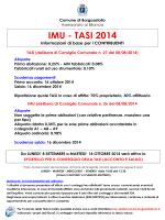 Volantino IMU-TASI - Comune di Borgosatollo