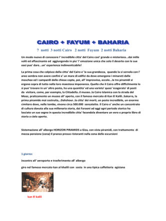 Cairo fayum bahria 7