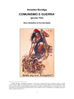 Amadeo Bordiga, Comunismo e guerra